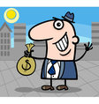 happy businessman cartoon vector image