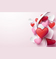 happy valentines day abstract hearts background vector image