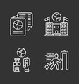 immigration chalk icons set embassy and consulate vector image vector image