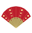 isolated traditional hand fan image vector image