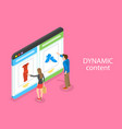 isometric flat concept of behavioral vector image vector image
