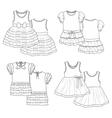 Kids dresses Sketch vector image vector image