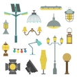 Lamps styles design electricity classic light vector image