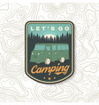 lets go camping summer camp vector image vector image