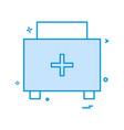 medical bag icon design vector image