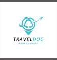 medical plane travel logo template design vector image vector image
