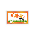 mothers day sale seal isolated holiday shopping vector image vector image