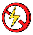 no lightning icon cartoon vector image vector image