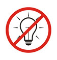 no new idea circle prohibited road sign isolated vector image vector image
