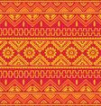 orange native american ethnic pattern vector image vector image