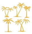 Palm Contours vector image vector image