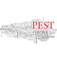 pest word cloud concept vector image vector image