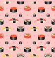 pixel art sushi seamless pattern