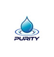 purity drop logo design symbol vector image