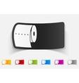 realistic design element toilet paper vector image