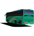Rear view of bus vector image vector image