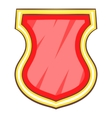 Red shield icon cartoon style vector image vector image