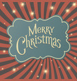 retro merry christmas card with new year lights vector image vector image