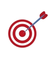 Round target dartboard vector image