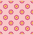 seamless pattern with fancy pink flowers vector image vector image