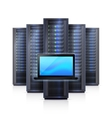 Server Rack Laptop Realistic Isolated vector image vector image