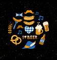 set hand drawn traditional beer fest vector image