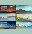 set natural disaster or cataclysms catastrophe vector image