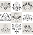 Set of emblems floral ornament vector image vector image