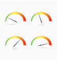 speedometers icon set four positions low middle vector image vector image