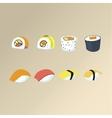 Sushi set Asian food vector image vector image