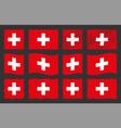 switzerland set official vector image vector image