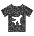 T-Shirt Icon Rubber Stamp vector image