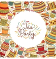 Tea Time Frame vector image vector image