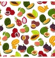 Tropical sweet fruits seamless pattern vector image vector image