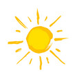 typical drawn yellow sun vector image vector image