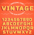 Vintage 3D Font with shadow vector image vector image