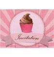 vintage cupcake background vector image