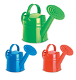 Watering cans set vector image vector image