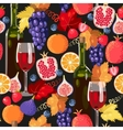 Wine and fruit seamless vector image