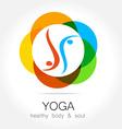 yoga health body soul vector image vector image