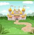 fantasy landscape with fairytale castle vector image