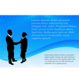 business people on the abstract background vector image