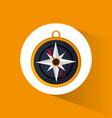 compass location navigation icon vector image