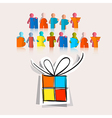 Happy Birthday with Paper Gift Box vector image