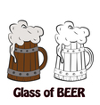 Cold Craft Beer vector image