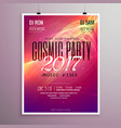 2017 happy new year party event flyer template vector image vector image