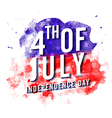 4th of July on abstract brush strokes decorated vector image vector image
