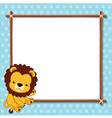 A Lion with white blank vector image