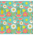 Abstract floral background summer theme seamless vector image