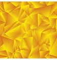 Abstract golden triangle background vector image